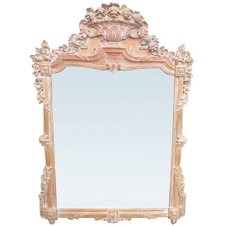18th Century Louis XV Style Stripped Mirror For Sale