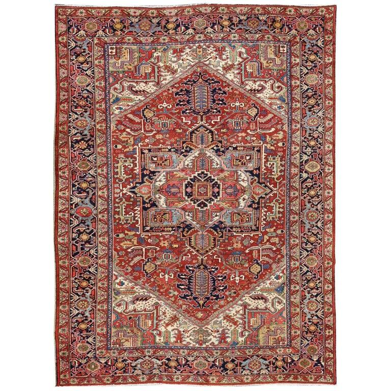 Antique Oriental Rugs Uk: Antique Heriz Serapi Rug For Sale At 1stdibs