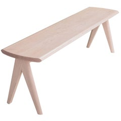 Crest Bench by Tretiak Works, Contemporary Handmade Solid Maple Bench