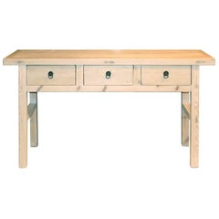 Three-Drawer Console Table
