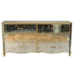 Giltwood and Antiqued Venetian Mirror Dresser