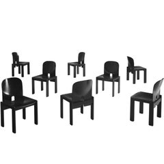 Afra and Tobia Scarpa Chairs in Black for Cassina