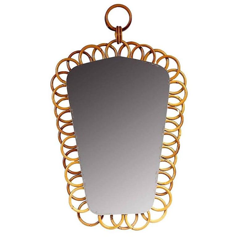 Albini Style Rattan Mirror