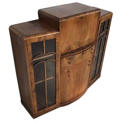 Art Deco Secretary Made of Walnut Wood