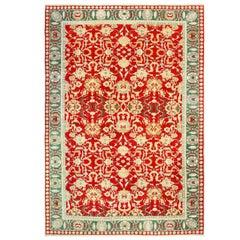 Large Decorative Vintage Agra Indian Rug