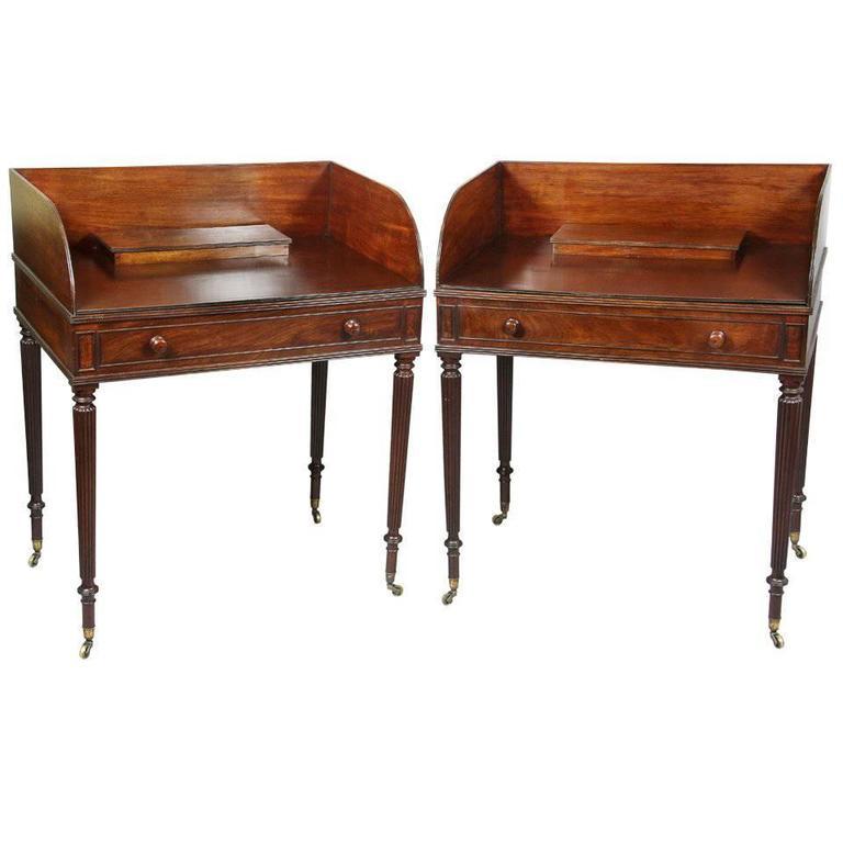 Pair of Regency Mahogany Side Tables