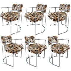 Up to 10 Mid-Century Chrome Milo Baughman Dining Chairs