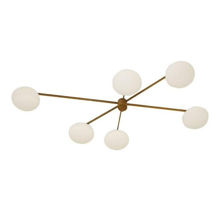 Ceiling Lamp in the Style of Angelo Lelli For Sale