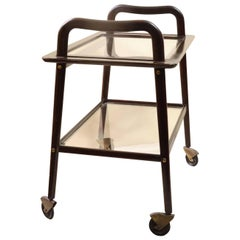 Vintage Sculptural Serving Cart by Ico Parisi for De Baggis, circa 1956