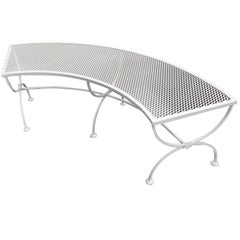 Russell Woodard Quarter Round Mesh Patio/Outdoor Bench