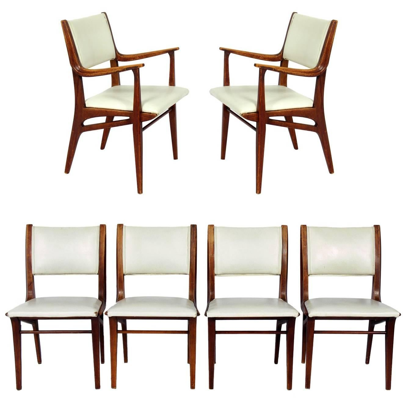 Exceptionnel Curvaceous Mid Century Modern Dining Chairs By John Van Koert For Drexel  For Sale