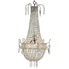 Small French Crystal Chandelier, circa 1900