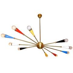 Italian Ceiling Lamp in the style of Arredoluce