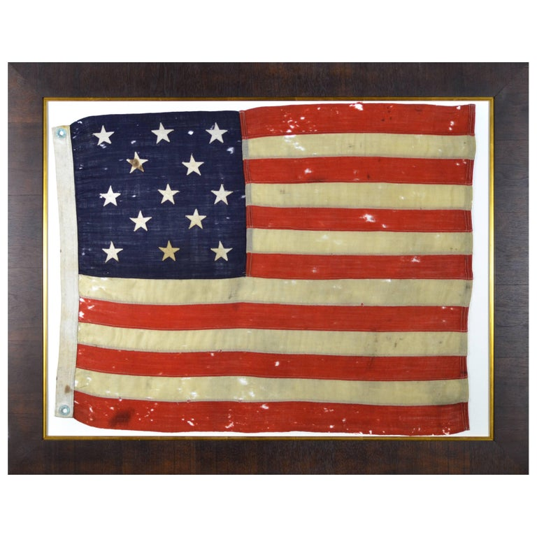 Beautiful 13 Star American Flag At 1stdibs