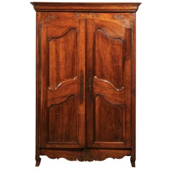 19th Century French Cherry Armoire, circa 1860