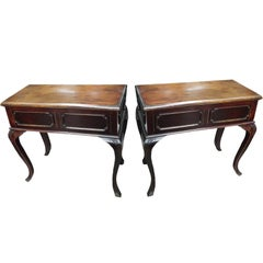 Pair of Chinese Art Deco Tables Republic Era