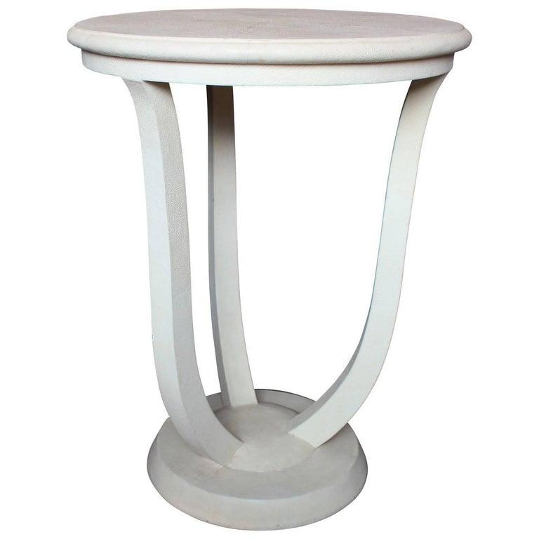 Shagreen Maitland Smith Circular Occasional Table