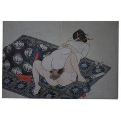 Original and Framed Shunga Prints by Kitagawa Utamaro