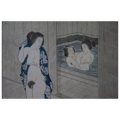 Original and Framed Set of Ten Shunga Prints