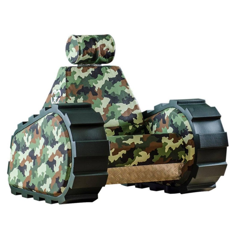"Armchair ""Armychair Sten"" Hand-Crafted Polyurethane Foam Camo Jungle"