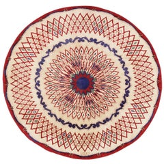 Round Antique French Art Deco Rug by Leleu