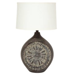 Adrian Pearsall Style Ceramic Table Lamp Brutalist, USA, 1960s