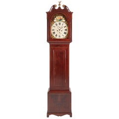 Mahogany Inlaid Eight Day Grandfather Clock