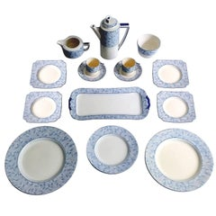 18 PCs Royal Doulton Art Deco Service Dinner Dinnerware,  Modernist Limoges Era