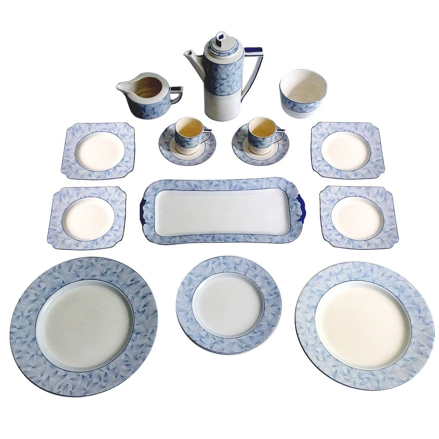 18 PCs Royal Doulton Art Deco Service Dinner Dinnerware Modernist Limoges Era For Sale  sc 1 st  1stDibs : art deco dinnerware - pezcame.com