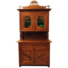 French Art Nouveau Walnut Buffet
