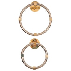 Polished Nickel and Brass Towel Rings