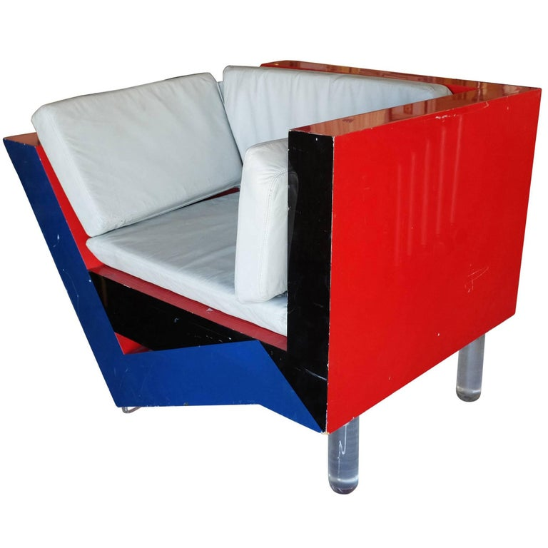 Post-Modern Memphis Inspired Lounge Chair **Saturday Sale** For Sale