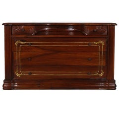 1910s French Art Nouveau Belle Époque Commode Chest of Drawers , Carved Mahogany