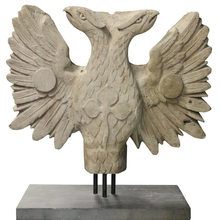 19th Century Two Headed Eagle Sculpture For Sale