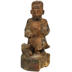 Chinese Wood Carved Ancestor