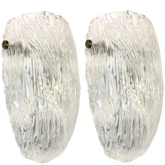 Pair of Textured Glass Sconces by Barovier