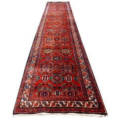 Heriz Persian Rug Semi Antique Large Size Runner