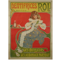 French Art Nouveau Period Toothpaste Poster, circa 1900