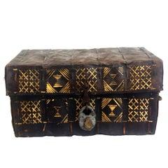 African Rawhide Deeds Box