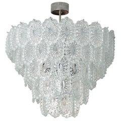 Mazzega Crystal Glass Mid-Century Chandelier