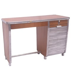 1960s Art Deco Style Roller Front Airline Desk and Chair