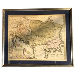 Four 18th Century Engraved and Hand-Colored Maps by Weigel