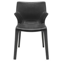 """Lou Eat"" Leather Dining Chair Designed by Philippe Starck for Driade"