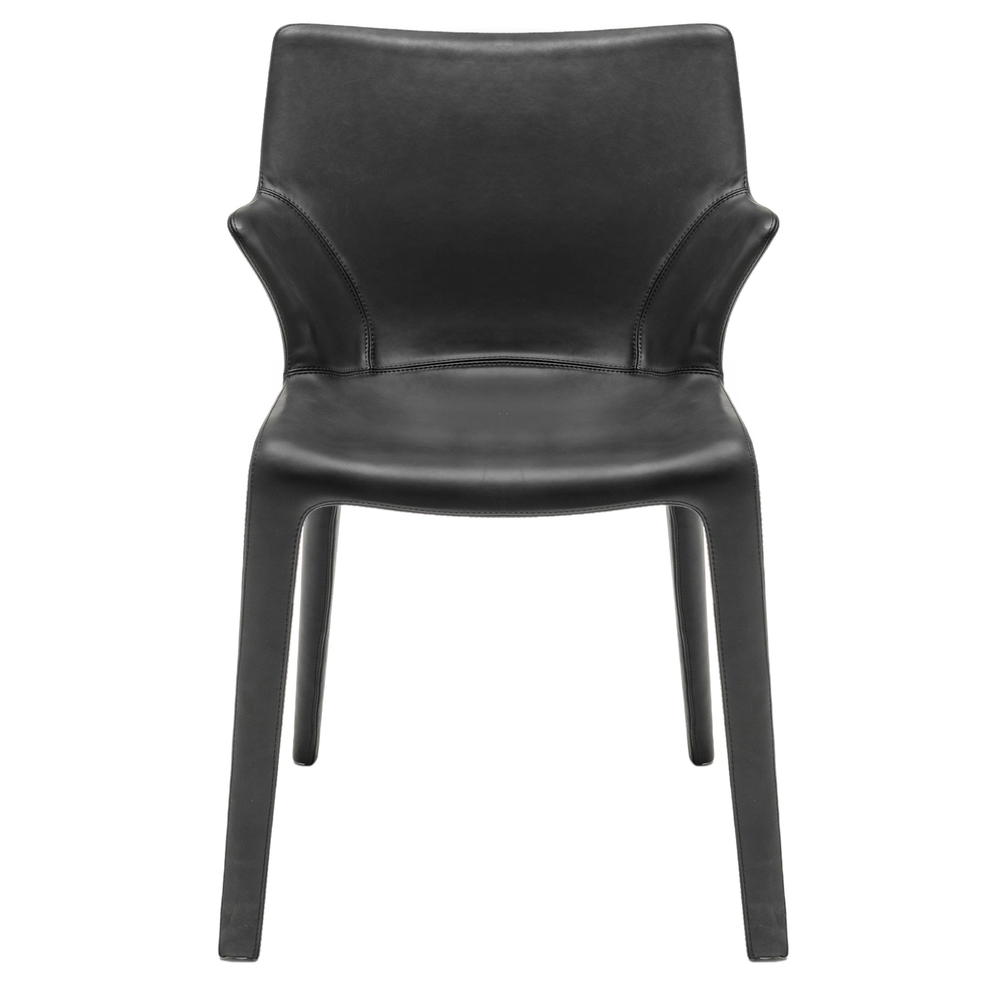 """""""Lou Eat"""" Leather Dining Chair Designed by Philippe Starck for Driade"""