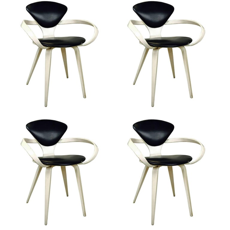 Set of Four Cherner Armchairs for Plycraft 1