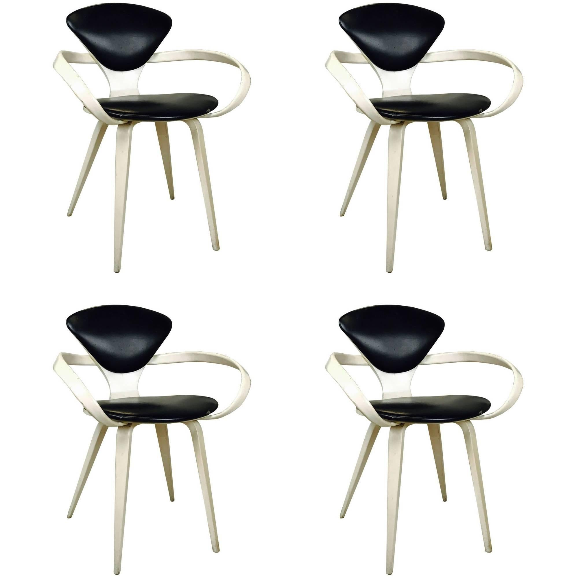 set of four cherner armchairs for plycraft plycraft bentwood chairs by norman cherner