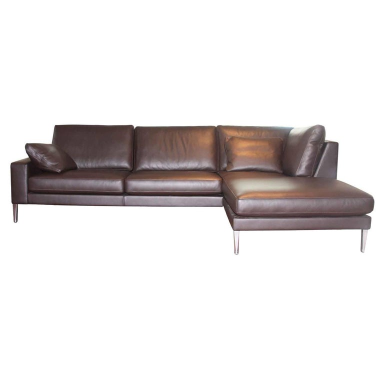 """Sofa """"Carlo"""" by Manufacturer FSM in 100% Genuine Leather and"""