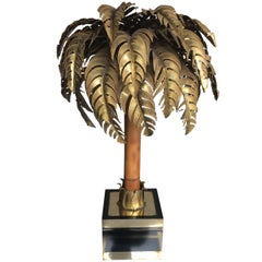 Maison Jansen Palm Tree Table Lamp