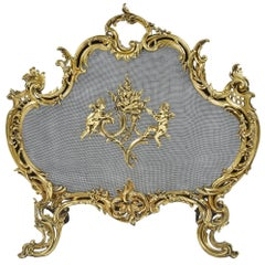 Louis XVI Style Rococo Fire Screen, 19th Century