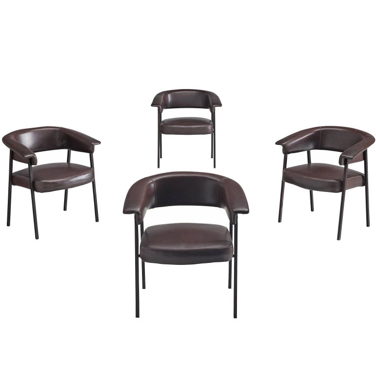 Set of Four Robust Dining Chairs